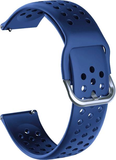 ACM WSM11B20DBL1904 Watch Strap Silicone Belt 20mm for Motorola Moto 360 (3rd Gen) ( Smartwatch Breatheable Dot Band Dark Blue) Smart Watch Strap