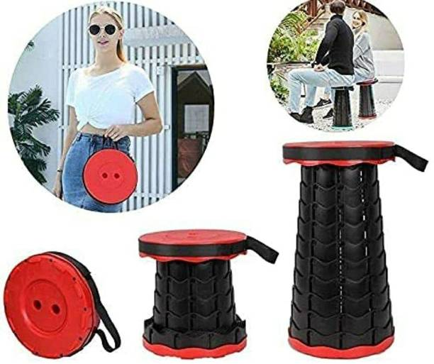 SWAYAM ENTERPRISE Portable Telescopic Stool, Adjustable Height Retractable Stool Folding Portable Collapsible Stool Suitable for Camping, Fishing, BBQ, Strong and Reliable, Easy to Carry Anywhere Outdoor & Cafeteria Stool