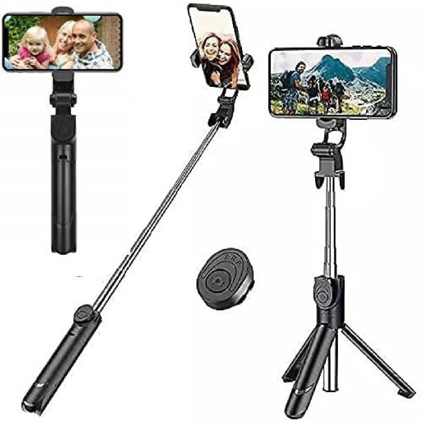Arfila XT02 Professional Video and Picture Catcher Bluetooth Selfie Stick with Tripod Stand Features Monopod