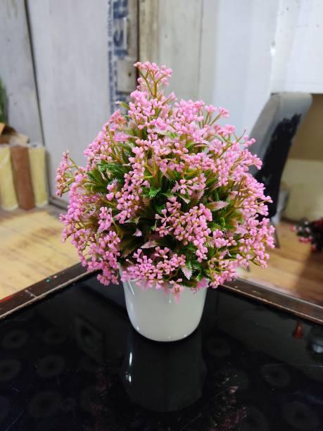 SAF LIGHT PINK MEDIUM SIZE ARTIFICIAL PLANT WITH POT FOR DECORATION Bonsai Wild Artificial Plant  with Pot