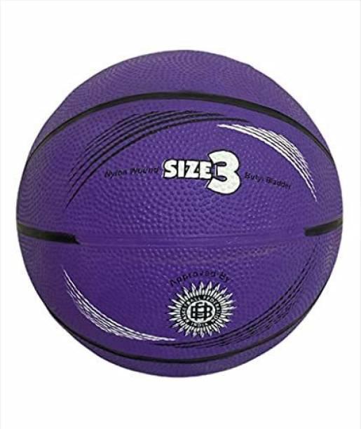 JOJOMART Basketball - size 3 (PURPLE) Basketball - Size: 3
