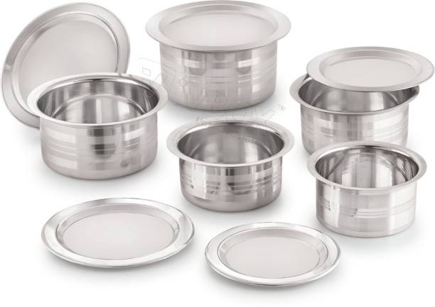 iVBOX induction Designer Tope With Steel Lid Cookware Set