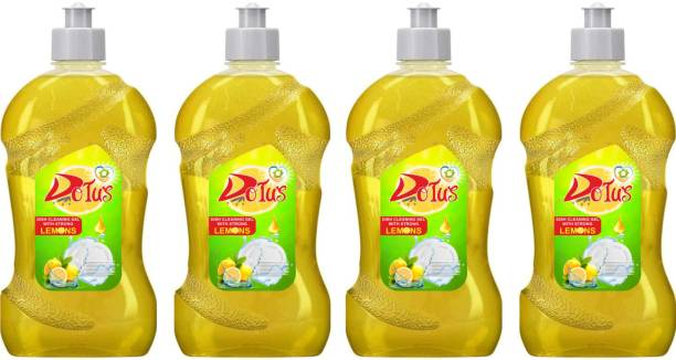 DOTUS DISH WASH CLEANING GEL With Lemon Fragrance, Leaves No Residue, Grease Cleaner For All Utensils, * 500 ML4 Dish Cleaning Gel