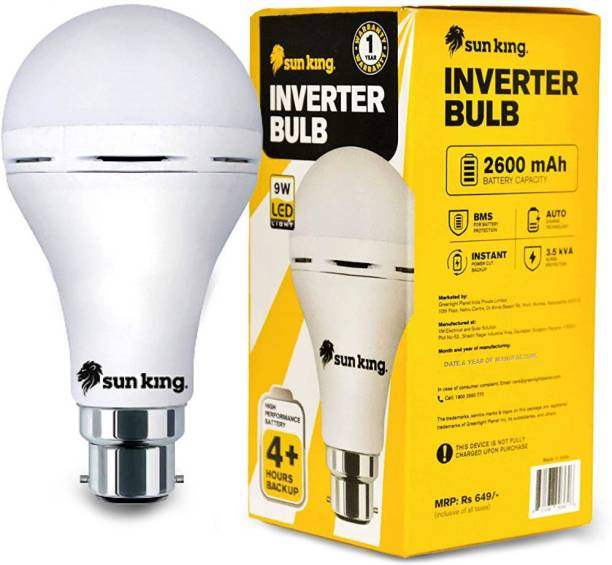 sunking 9 W Standard B22 Inverter Bulb
