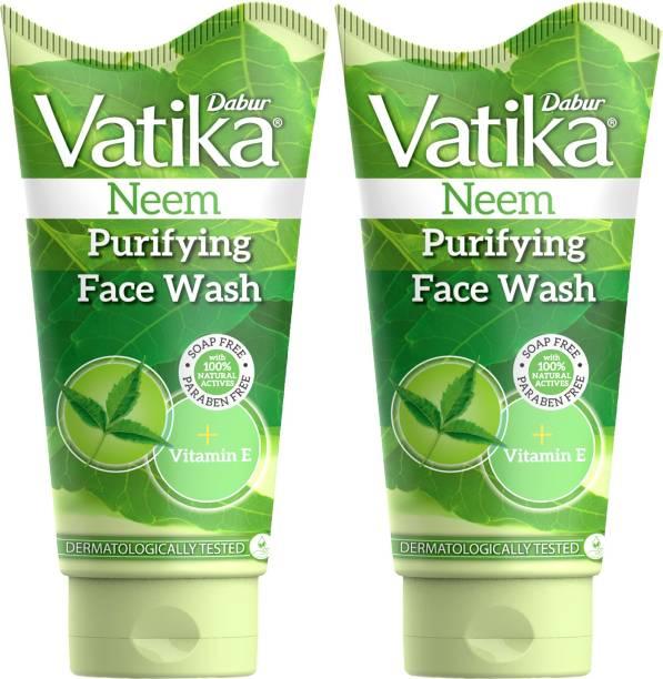 Dabur Vatika Neem Purifying (150ml each , Pack of 2)  Face Wash