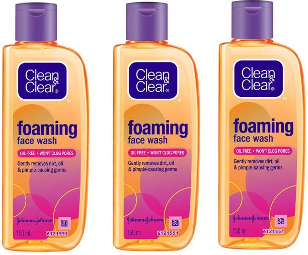 Clean&Clear Foaming , 150ml (Pack Of 3) Face Wash