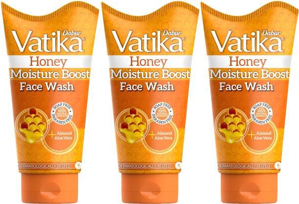 Dabur Vatika Honey Moisture Boost (150ml each , Pack of 3)  Face Wash