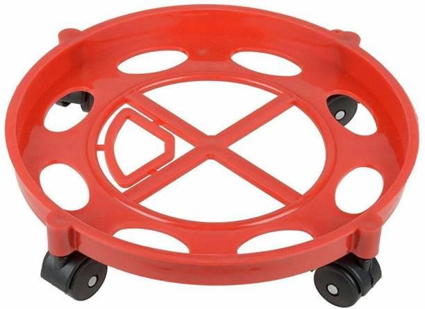 Flipkart SmartBuy Presents High Quality plastic Round Shape Movable Gas Cylinder Trolley