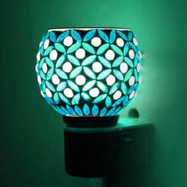 ASHTAMANGAL Electric Incense burner or kapoor dani With night lamp N 52 Glass Incense Holder