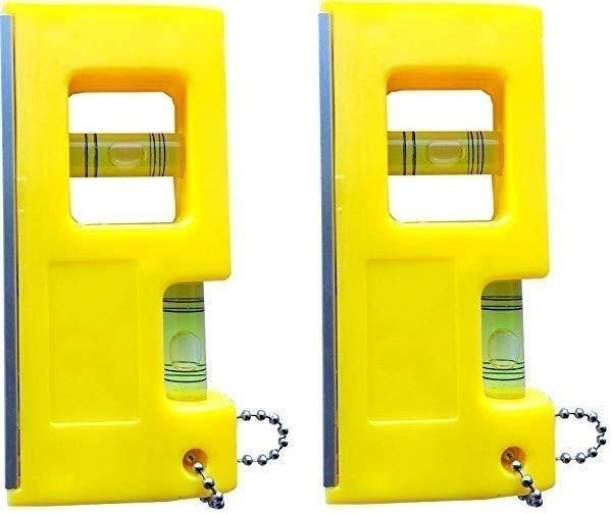 """Premier 4"""" Pocket Level with non Magnet + Double Sided Leveling Power (Vertical Vial + Horizontal Vial) 4 Inch Plastic non Magnetic Spirit Level Bubble Level Carpenter's Tool surveying Instruments carpenter level 1795 Non-magnetic Torpedo Level"""