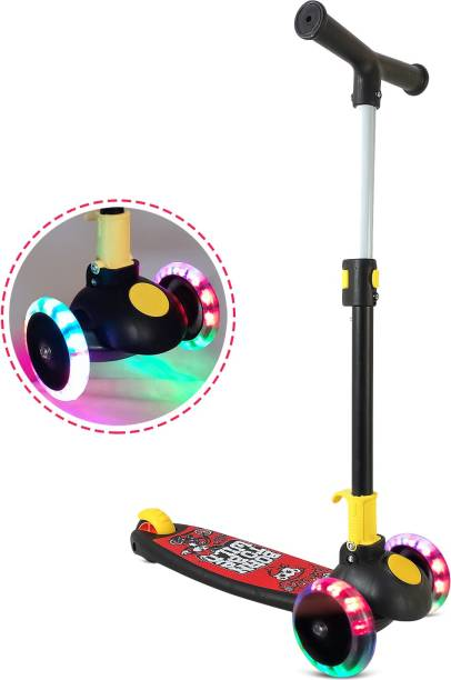 Miss & Chief Smart Kick Scooter For Kids, 3 Adjustable Height, Foldable,Front Wheel light & PVC Wheels (3 to 8 Years Kids)
