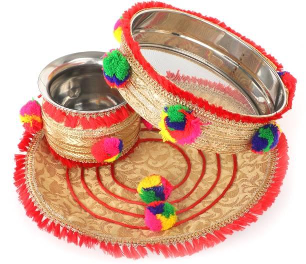 Divya Shakti karwa chauth Thali Stainless Steel