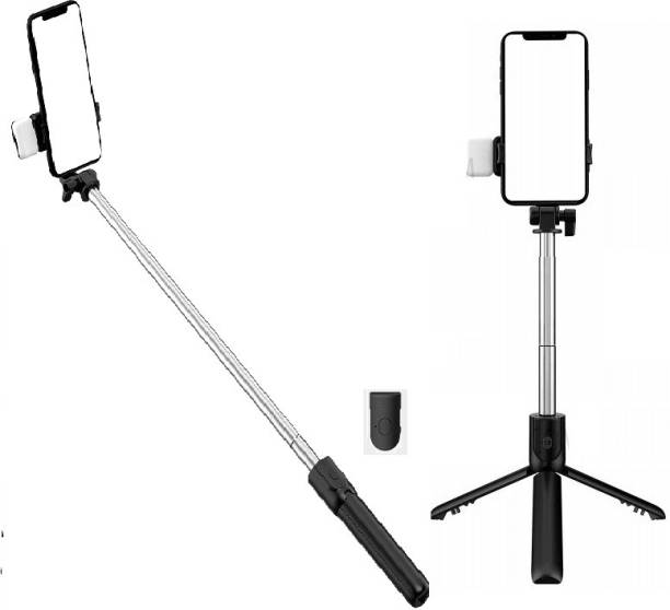 Arfila R1S Professional Video and Picture Catcher Bluetooth Selfie Stick & Flash Light 360 Degree Rotation with Tripod Stand Features Tripod