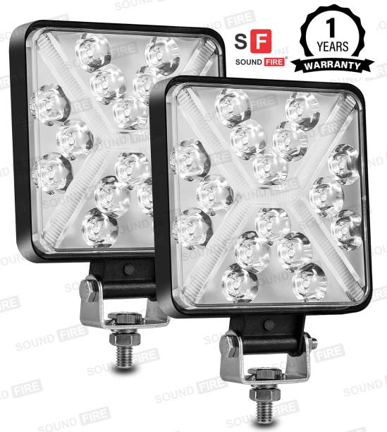 SF LED 168W X DRL Square Fog Light Waterprof Headlight, Fog Lamp, Back Up Lamp Car, Truck, Van, Motorbike LED (12 V, 168 W)