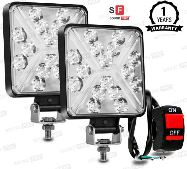 SF LED 168W X DRL Square Fog Light With ON\OFF Switch Headlight, Fog Lamp, Back Up Lamp Car, Truck, Van, Motorbike LED (12 V, 168 W)