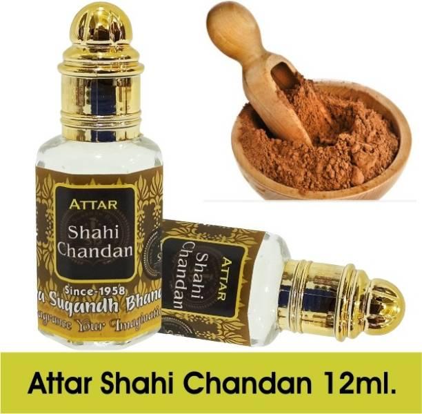 INDRA SUGANDH Shahi Chandan,Real Sandal Attar 12ml ~ For Men, Long Lasting Original Chandan Attar Herbal Attar
