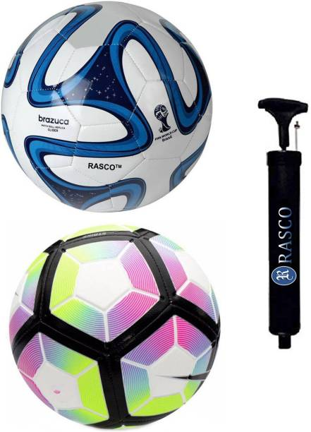 RASCO 12 PANEL PURPLE AND BLUE BRAZUCA WITH PUMP Football - Size: 5