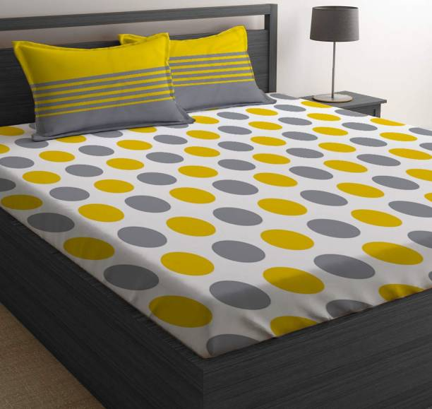 Serenity 144 TC Cotton Double Checkered Bedsheet