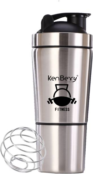 KenBerry Fitness Two Compartment (591 ML Top + 159 ML Bottom) Gym 750 ml Shaker
