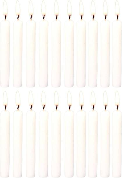 Parkash Candles Chime Candles Set of 20   Ritual Spell Candle   Unscented (White) Candle