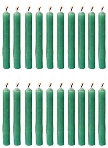 Parkash Candles Chime Candles Set of 20   Ritual Spell Candle   Unscented (Green) Candle