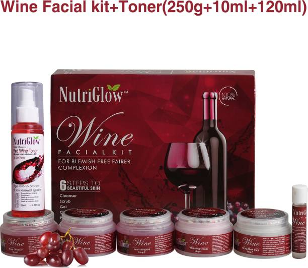 NutriGlow Women Beauty Care Radiance/Cleanser Instant Glow - Skin Treatment - Glowing Red Wine Toner Anti Ageing Solution/Valentine Gifts