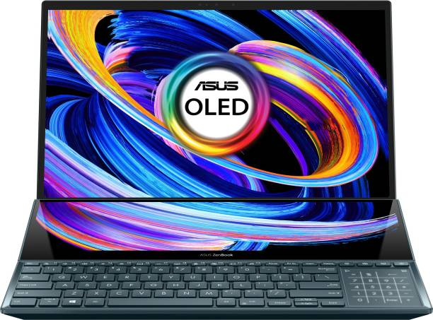 ASUS ZenBook Pro Duo 15 (2021) OLED Core i9 10th Gen - (32 GB/1 TB SSD/Windows 10 Home/8 GB Graphics) UX582LR-H901TS 2 in 1 Laptop