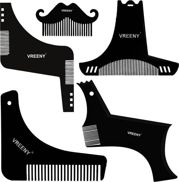 Vreeny Beard Shaper Tool Comb Beard Shaping tool Beard Comb for Men Home and Salon Use Men Beard Accessories