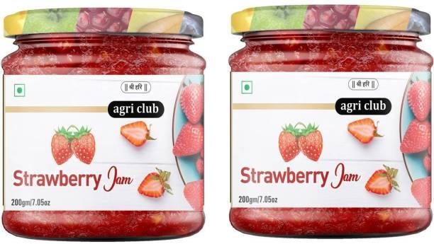 AGRI CLUB Super Strawberry Jam (each 200 Gm) 400 g