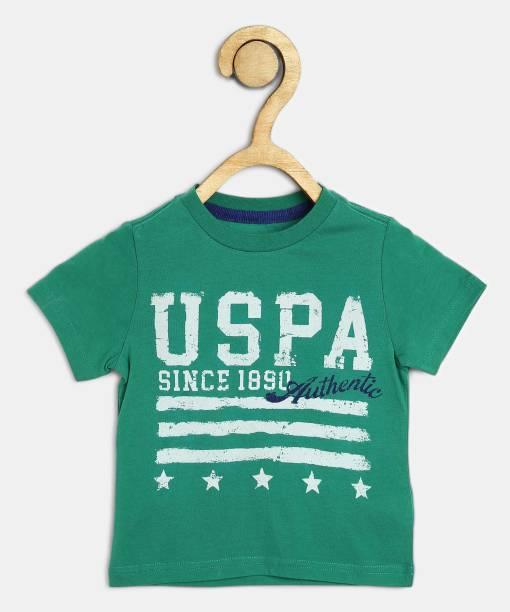 US Polo Kids Boys Printed Pure Cotton T Shirt