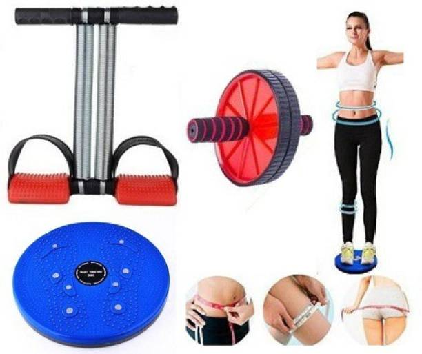 FHARGE Abdominal AB Wheel Roller for home & Gym, Tummy Trimmer, Gym Equipment Tummy Twister for Men & Women Gym & Fitness Kit