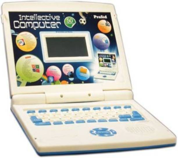 S S Enterprises Intellective Learning Computer with 50 Activities, Educational Toy for Kids, (Blue)