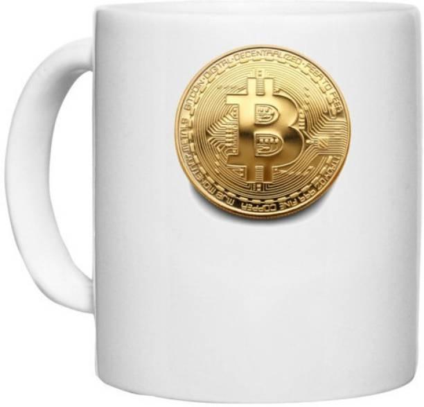 UDNAG White Ceramic Coffee / Tea 'Cryptocurrency   Bitcoin' Perfect for Gifting [330ml] Ceramic Coffee Mug