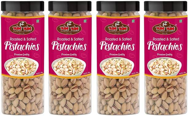 YUM YUM Premium Roasted & Salted Pista Nut 600g (Pack of 4-150g Each) Pistachios