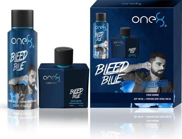 one8 by Virat Kohli Bleed Blue Eau de Parfum + Deo (Pack of 2) Eau de Parfum  -  300 ml