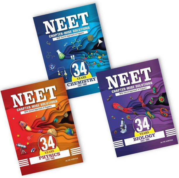 NEET 34 Years Chapter-Wise Solutions With Topper's Secret Approach & NCERT Page-Wise Reference - Physics, Chemistry & Biology (2021-1988) Papers COMBO