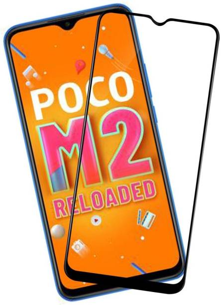 SHIELD Edge To Edge Tempered Glass for Poco M2 Reloaded