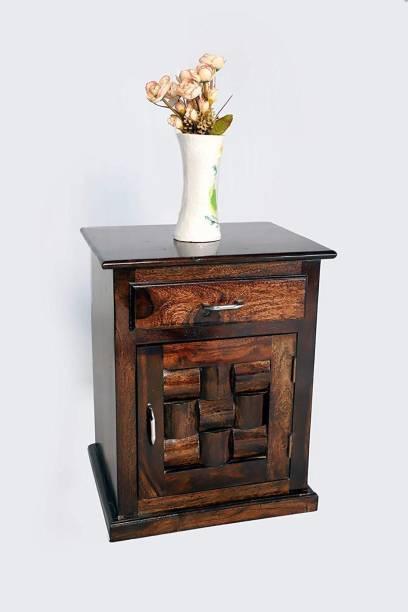 Allie Wood Sheesham Wood Solid Wood Bedside Table