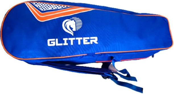 Glitter Badminton Kit Bag with Pittho Style/Shoulder Style with Shoe Cave Full Padded Bag