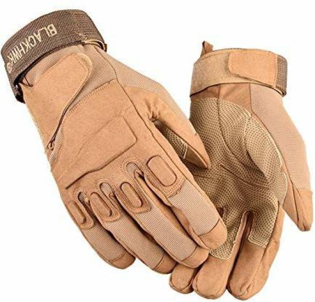LAFILLETTE Breathable Touch Screen Knuckle Protective Outdoor Full Finger Tactical Gloves Gym & Fitness Gloves