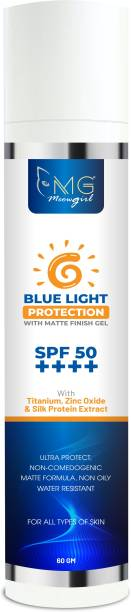 MGmeowgirl Blue Light Protection matte finish gel for Women's and Men's - SPF 50 PA++++