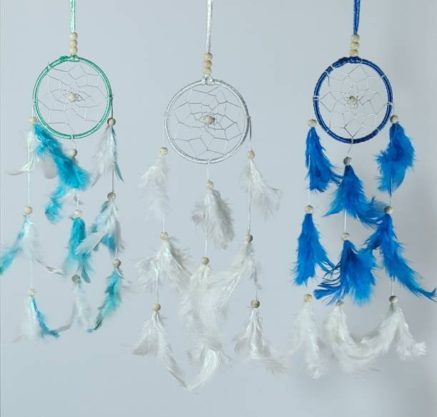 FASTDAP Handmade Dream Catcher Combo with Natural Feather for Door/Wall/Car Hanging Feather Dream Catcher