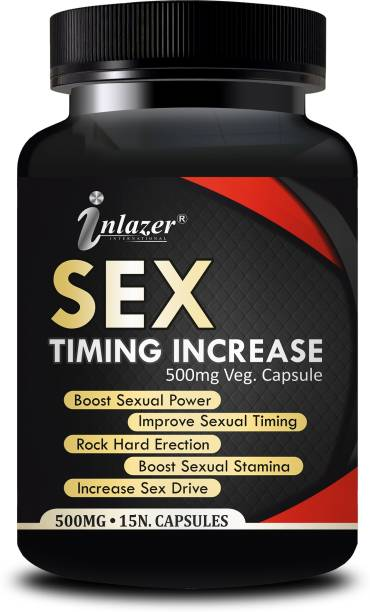 inlazer Sex Time Increasing Sexual Capsules For Increase Male Power, Sexual timing tablet for men 100% Ayurvedic