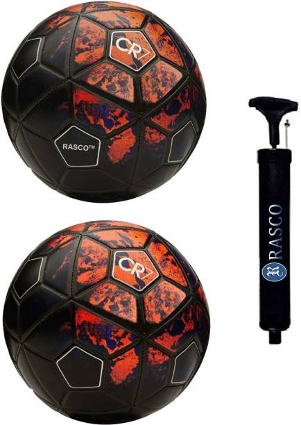 RASCO CR7 RED AND CR7 RED WITH PUMP Football - Size: 5