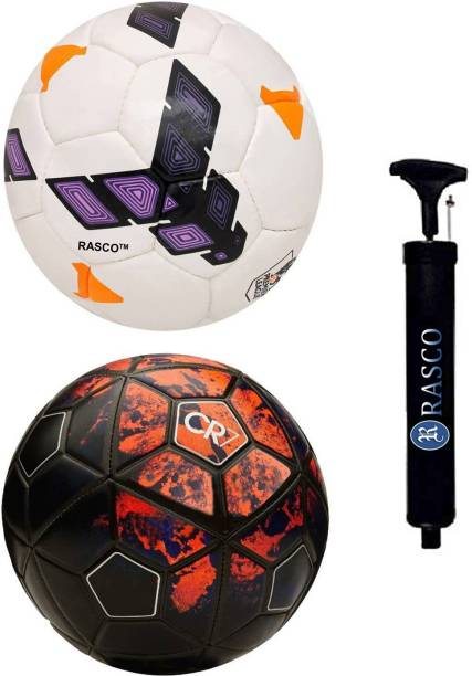 RASCO CR7 RED AND PURPLE STRIKE WITH PUMP Football - Size: 5