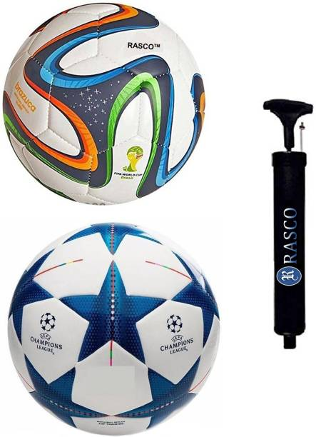 RASCO BLUE STAR AND 4 COLOR WITH PUMP Football - Size: 5