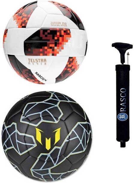 RASCO MESSI AND TELSTAR RED WITH PUMP Football - Size: 5
