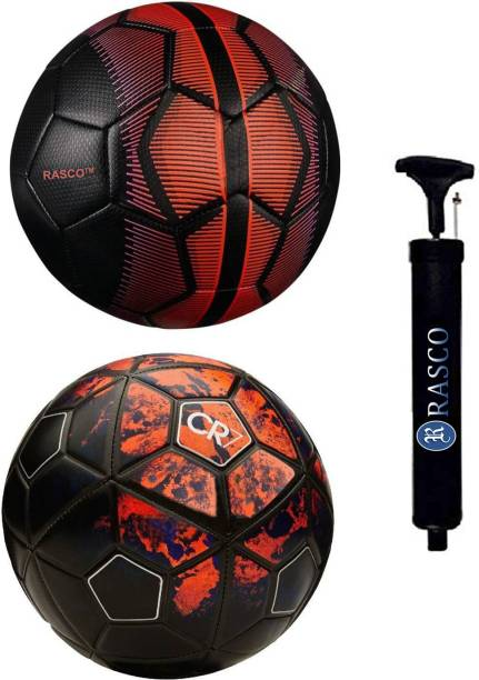 RASCO CR7 RED AND BLACK MERCURY WITH PUMP Football - Size: 5