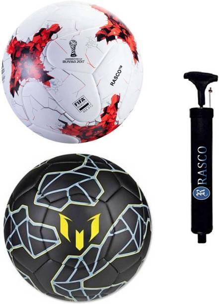 RASCO MESSI AND RUSSIA RED WITH PUMP Football - Size: 5