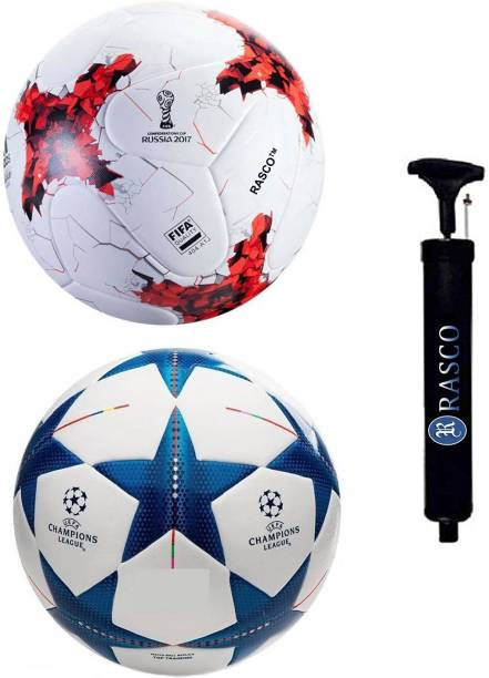 RASCO BLUE STAR AND RUSSIA RED WITH PUMP Football - Size: 5